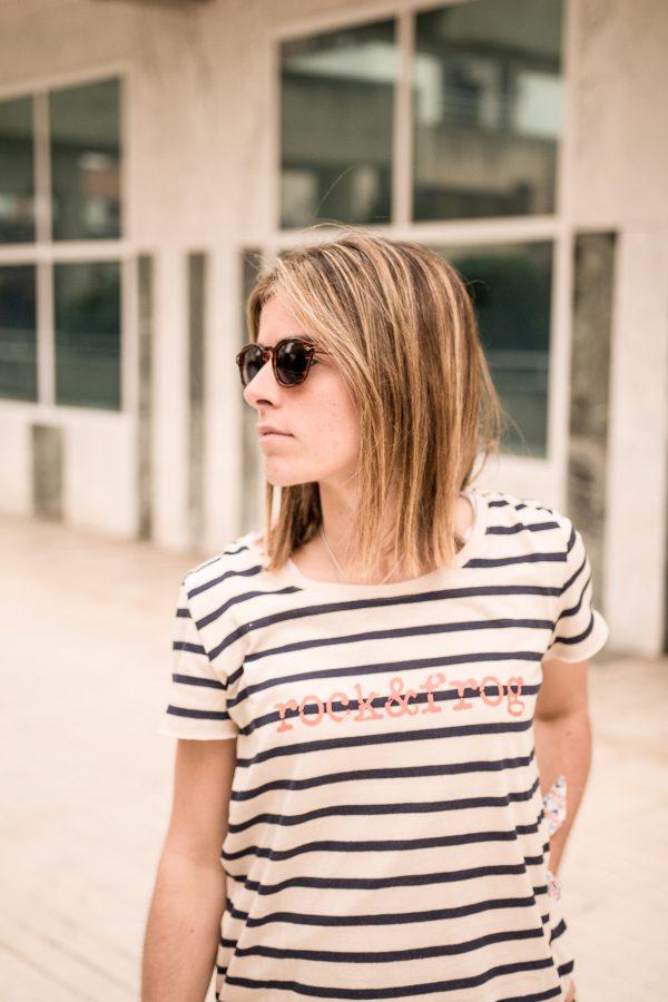 camiseta mujer rayas