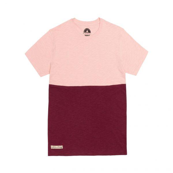 camiseta bicolor rosa