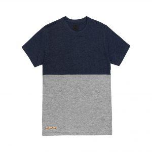 camiseta bicolor gris
