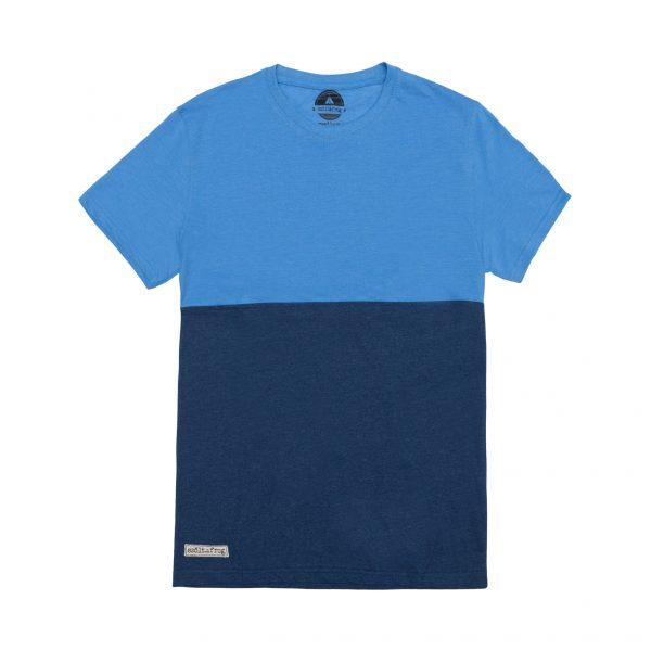 camiseta bicolor azul
