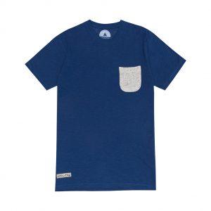 camiseta azul con bolsillo