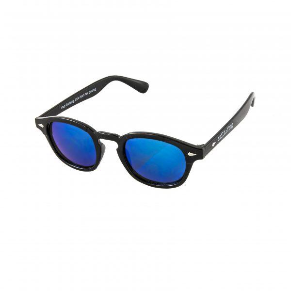 Gafas de sol negra cristales azules