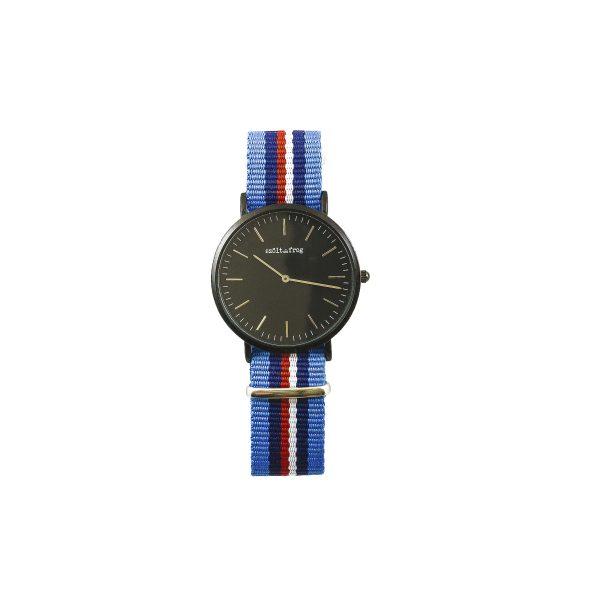 Reloj negro correa nylon