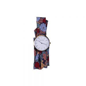 Reloj dorado correa floral