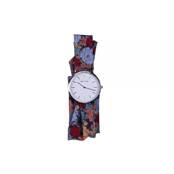 Reloj plata correa lazo