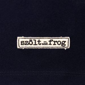 Detalle camiseta estampada szolt azul
