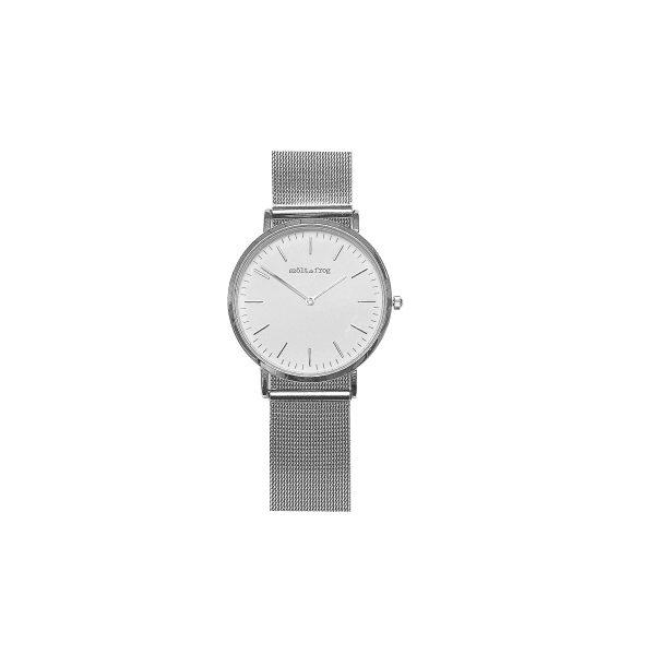 reloj plata malla