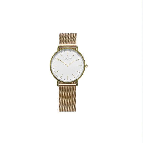 reloj dorado malla dorada