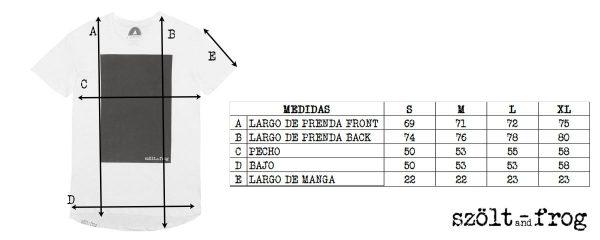 Medidas camiseta rectangulo