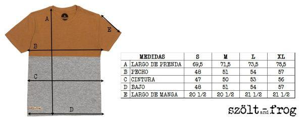 Medidas camiseta bicolor