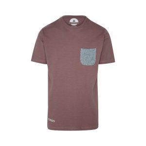 camiseta de bolsillo burdeos