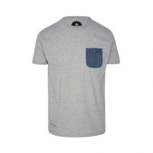 camiseta de bolsillo gris