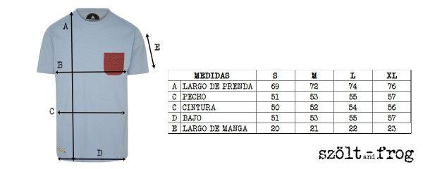 Medidas camiseta con bolsillo