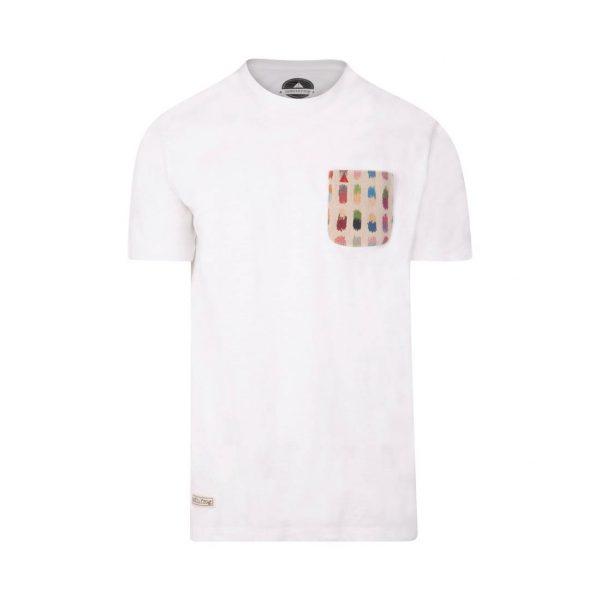 camiseta con bolsillo blanca