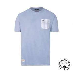 blue pocket t-shirt