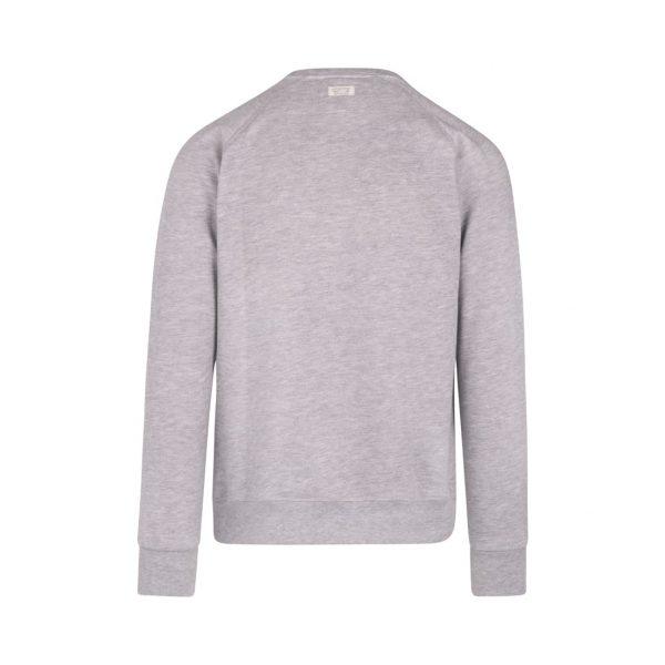 gray sweatshirt with pocket