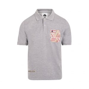 polo shirt with grey pocket