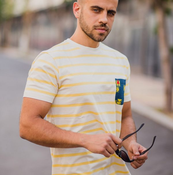 camiseta bolsillo rayas