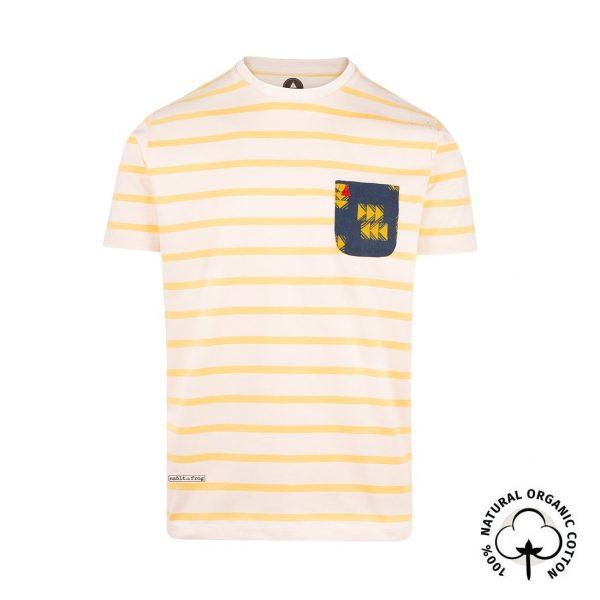 camiseta con bolsillo rayas