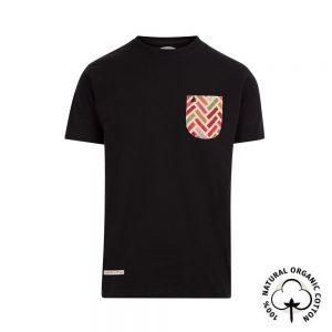 camiseta con bolsillo negra
