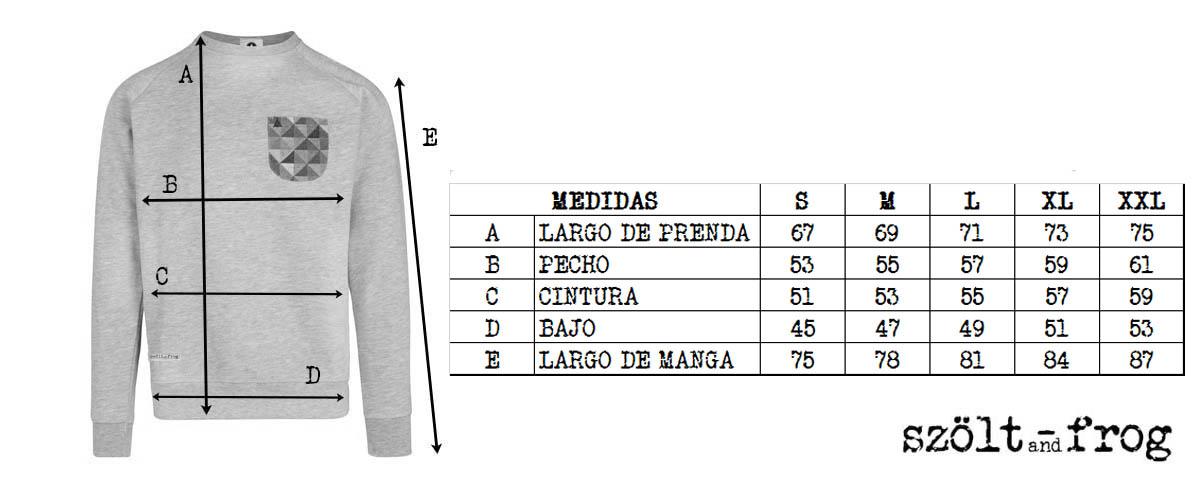 sizes sweatshirt szoltandfrog