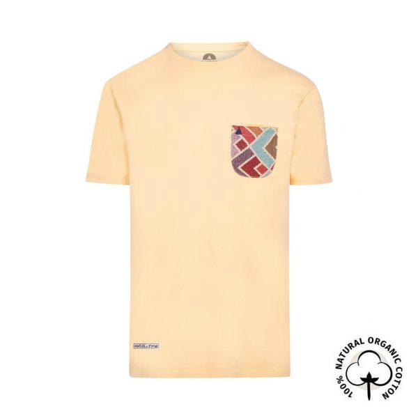 camisetas con bolsillo amarilla