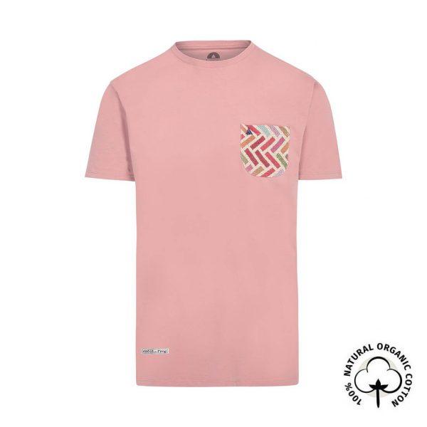 camiseta con bolsillo coral