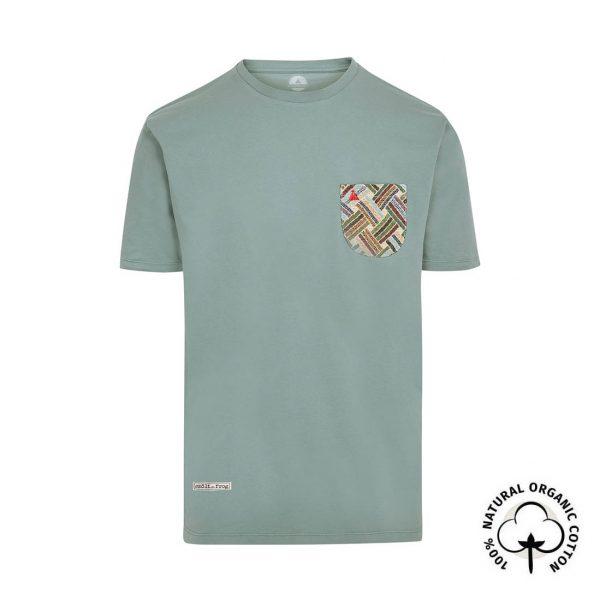 camiseta con bolsillo verde